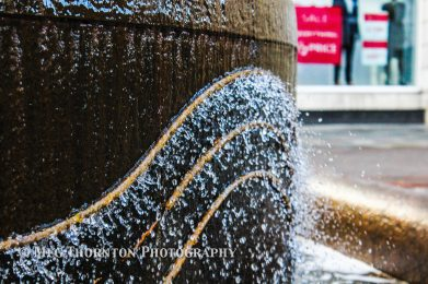 One of the fountains in St Anns Square
